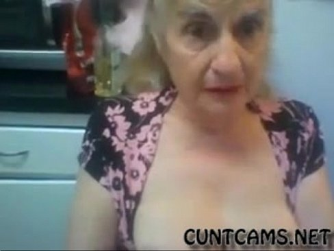 Old Granny Flashes her Tits on Webcam – More at cuntcams.net